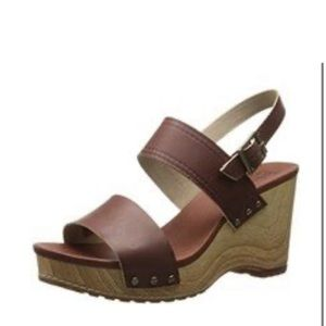 Timberland Tilden Brown Leather Strap Wedges